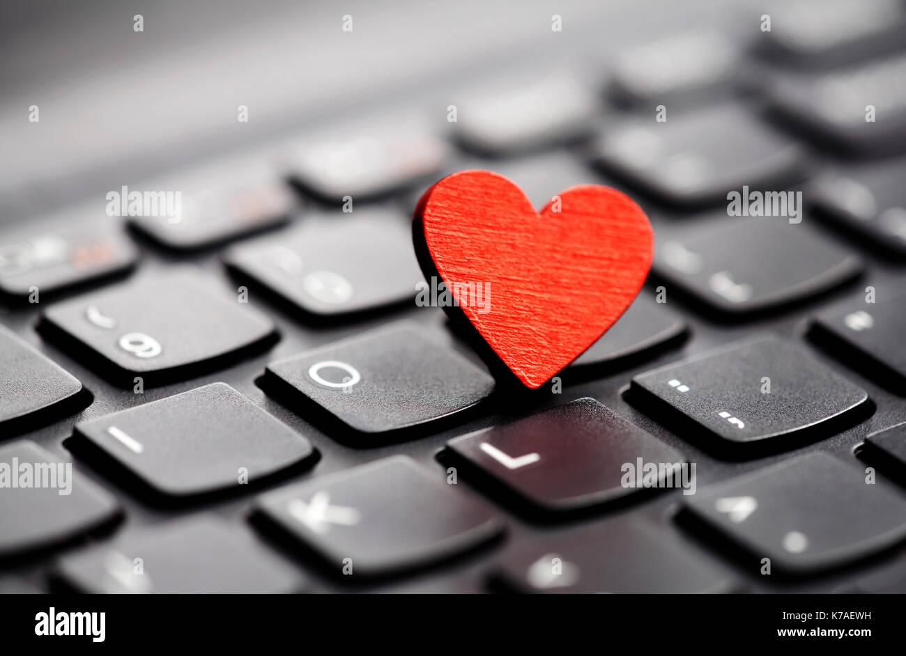 Leeres herz zeichen tastatur