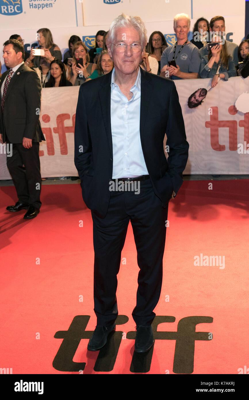 """Toronto, Kanada. 15 Sep, 2017. Richard Gere besucht die Premiere von """"Drei Christusse"""" während der 42 Toronto International Stockfoto"""