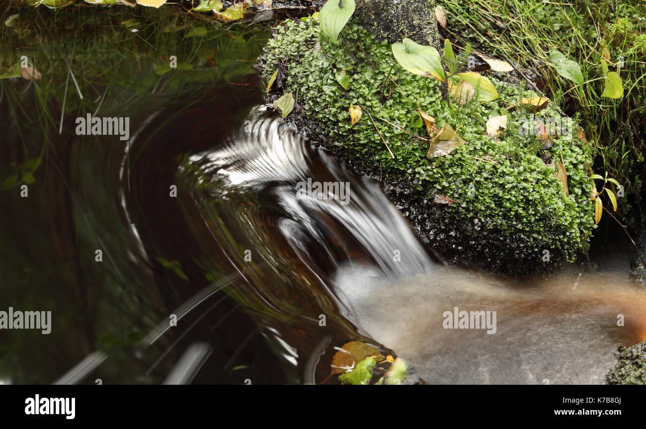 Schnelle stream cascade Wasser, Langzeitbelichtung erweichen Stockbild