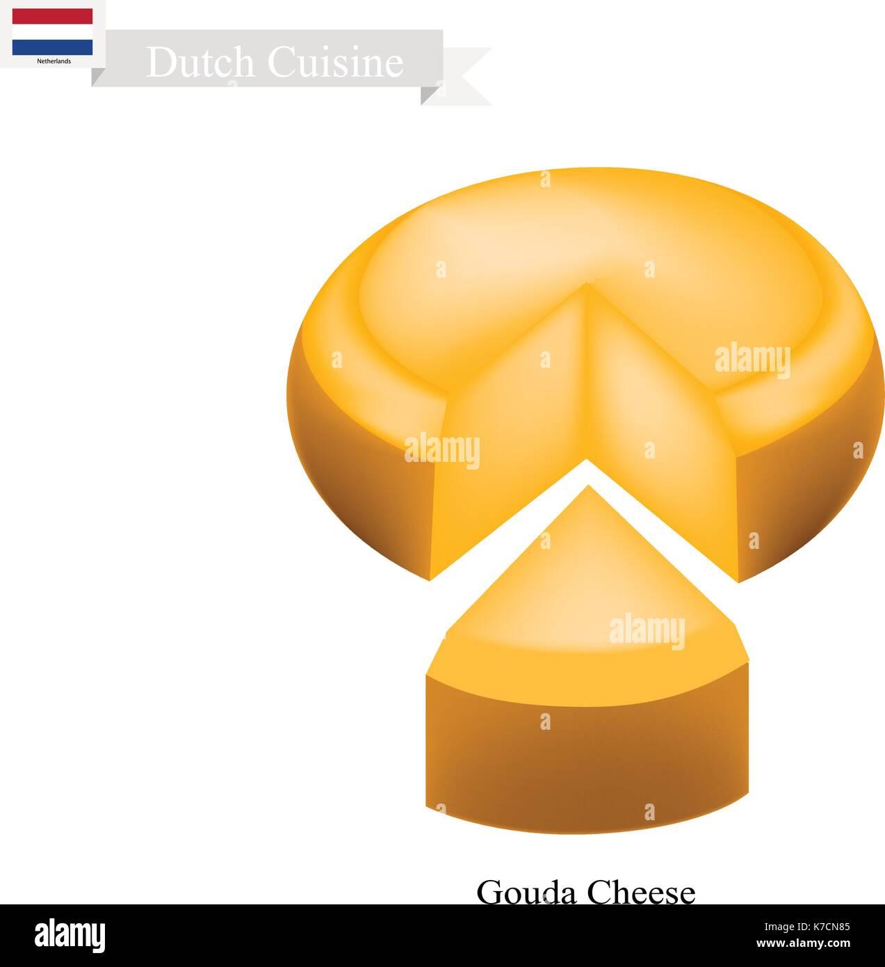 Niederländische Küche, Gouda Käse Oder Traditionelle Käse Aus Milch, Fett,  Protein, Riboflavin