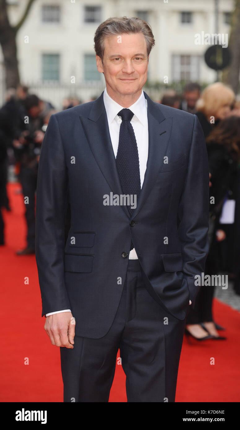 Foto muss Gutgeschrieben © Kate Grün/Alpha Presse 079965 11/04/2016 Colin Firth Auge in der Sky UK Premiere Curzon Mayfair London Stockbild