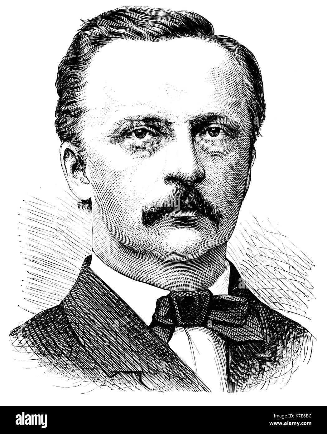 HERMANN von Helmholtz (1821-1894), deutscher Arzt und Physiker Stockbild