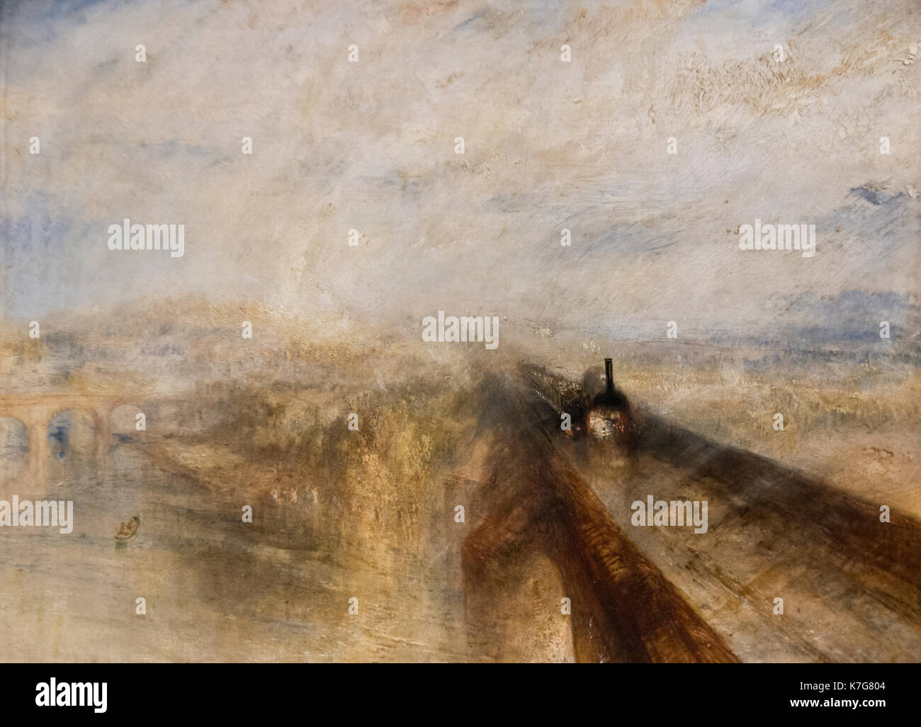 Joseph Turner: Regen, Dampf und Geschwindigkeit - die Great Western Railway (1844). Stockbild