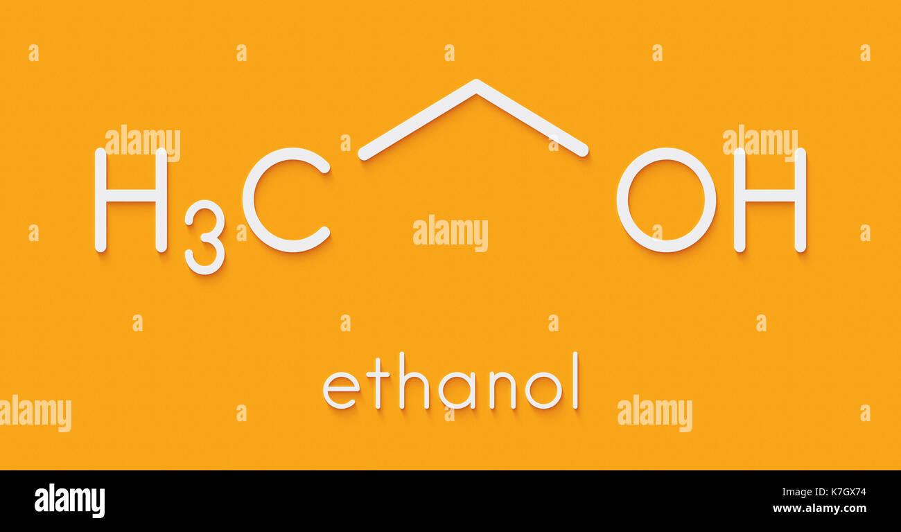 Extrem Alkohol (Ethanol, Ethylalkohol) Molekül, chemische Struktur LW15