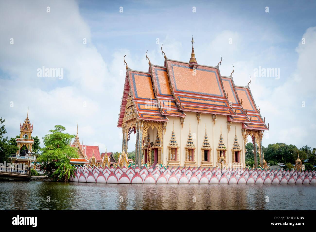Wat Plai Leam, einem buddhistischen Tempel auf der Insel Ko Samui, Thailand. Stockbild