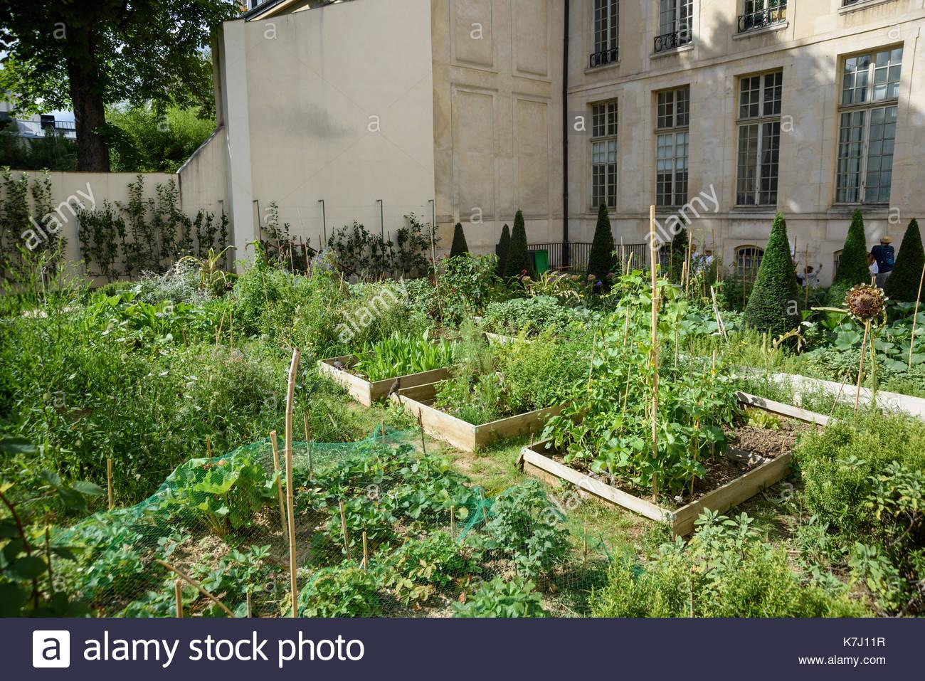 Paris, Marais, Jardin des Rosiers, Urban Gardening (35-37 ...