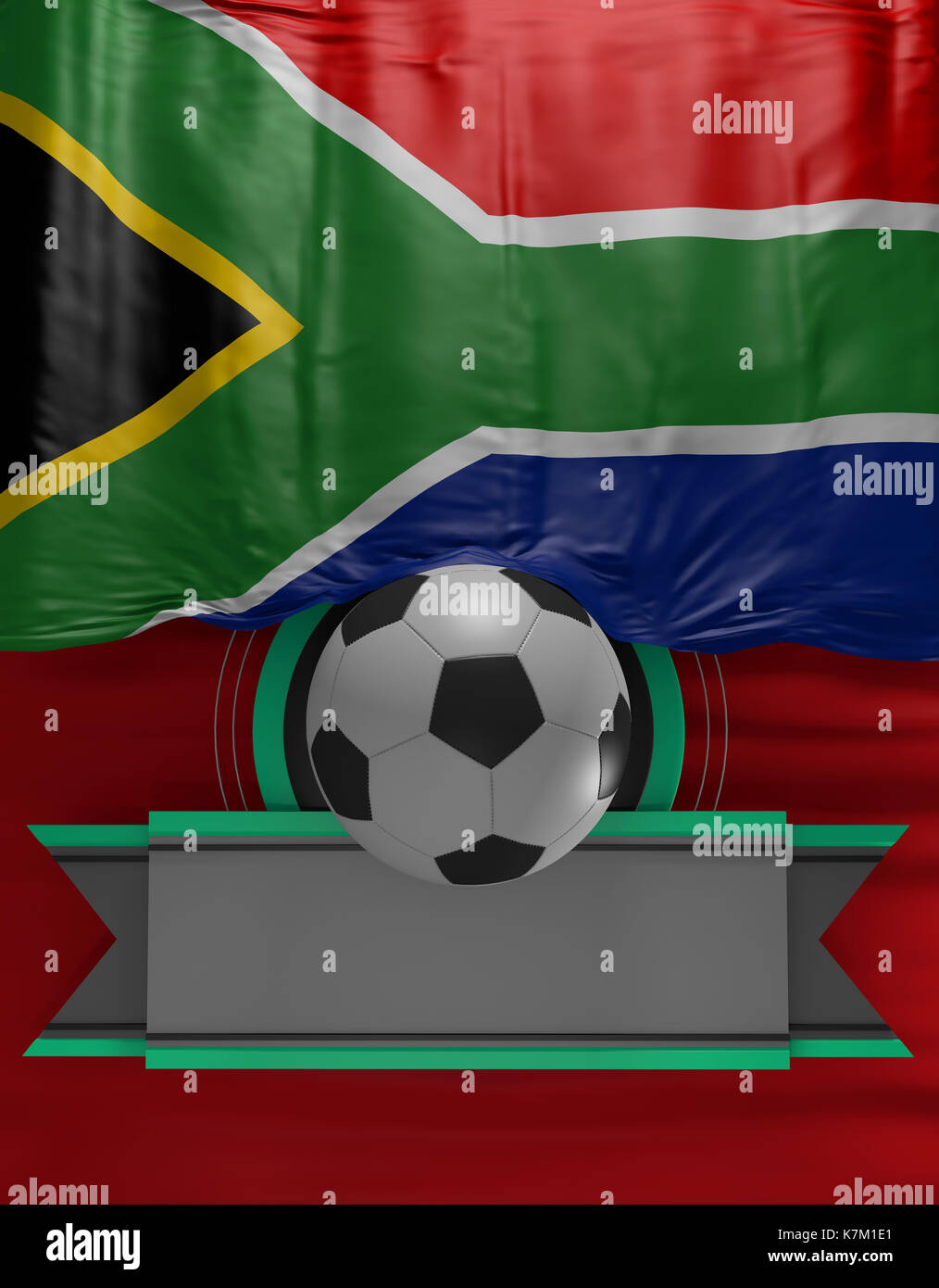 South African Flag Soccer Ball Stockfotos & South African Flag ...