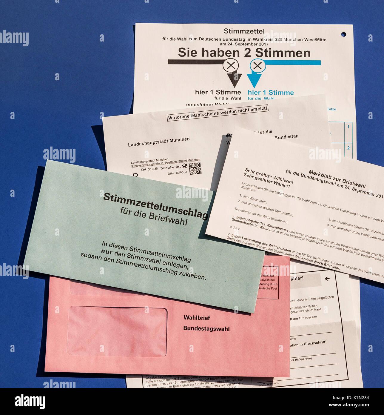 Bundestagswahl Per Briefwahl Abstimmen Schreiben Brief