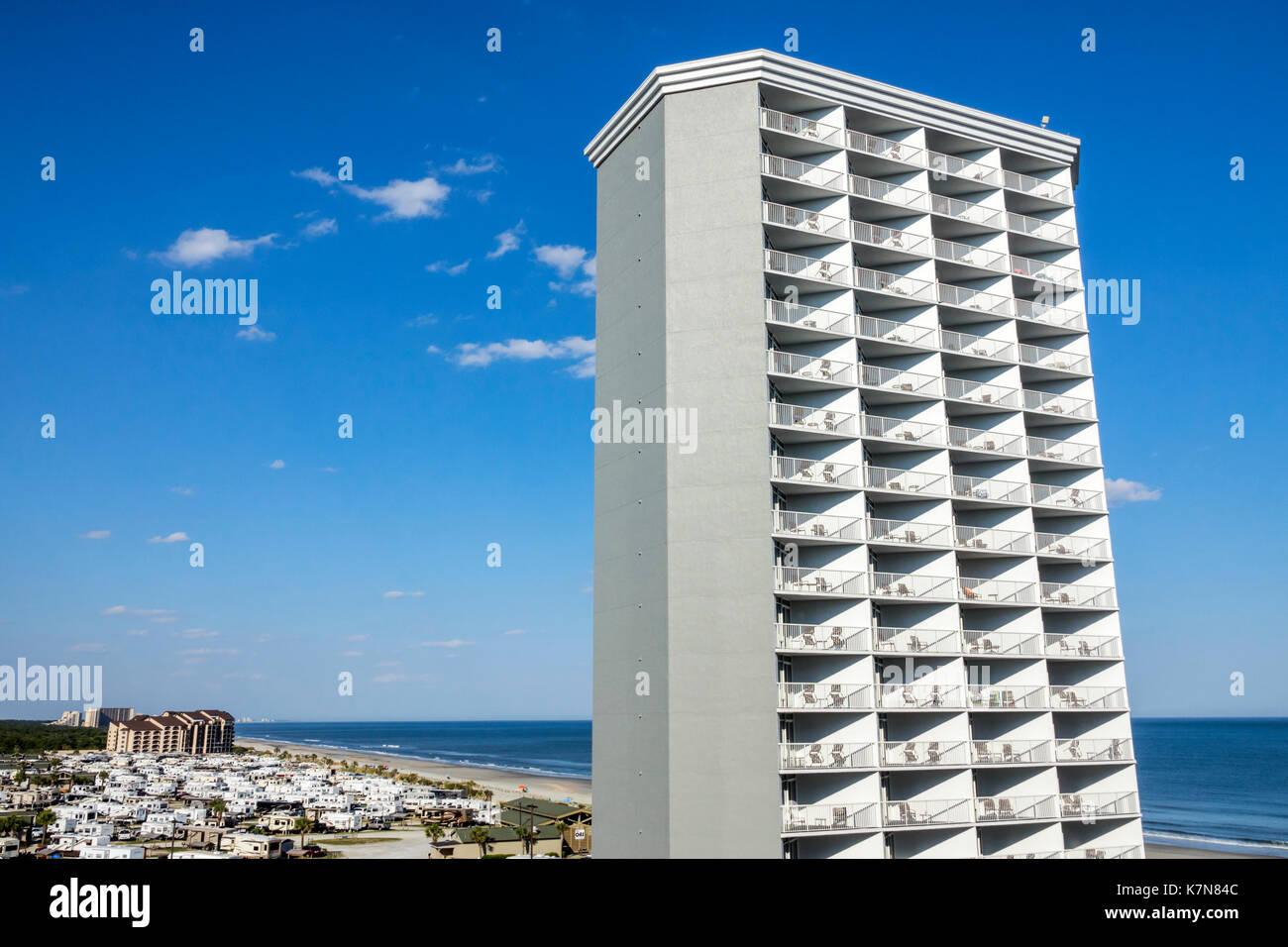 South Carolina SC Atlantik Myrtle Beach Wyndham SeaWatch Plantation Hotel Resort Hochhaus Stockbild
