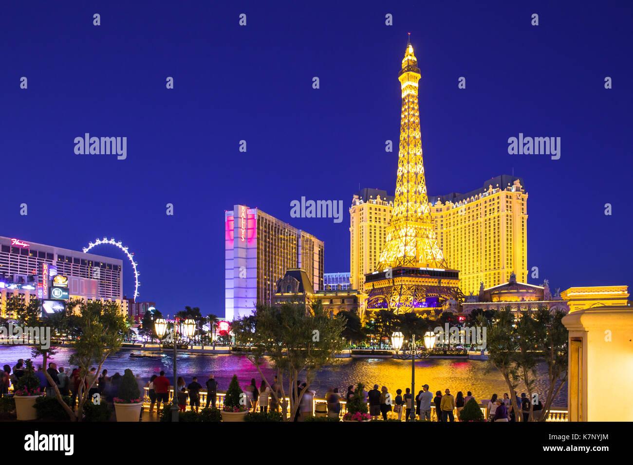 Las Vegas Nevada Mai 17 2017 Schone Nacht Blick Auf Den Las