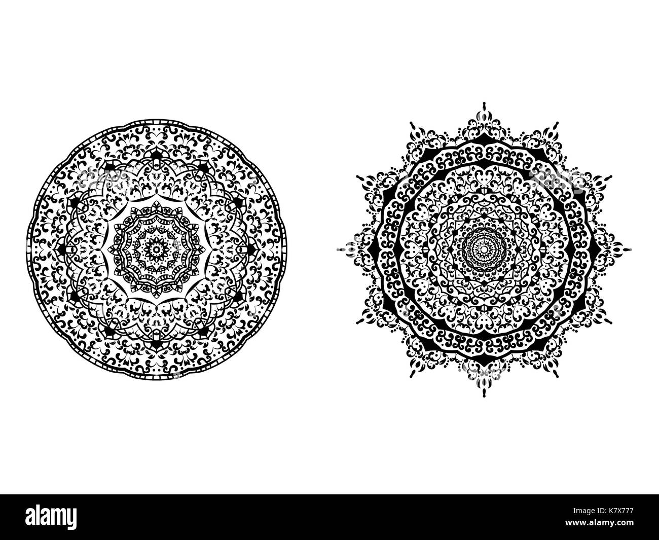 Abstrakte Kreis Mandala dekoratives Element Hintergrund Vector ...