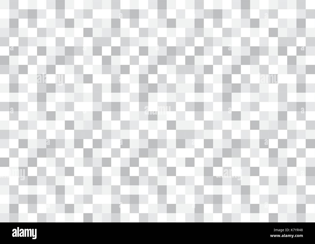 Die Graustufen Schachbrettmuster pixel strukturierten Hintergrund Stockbild