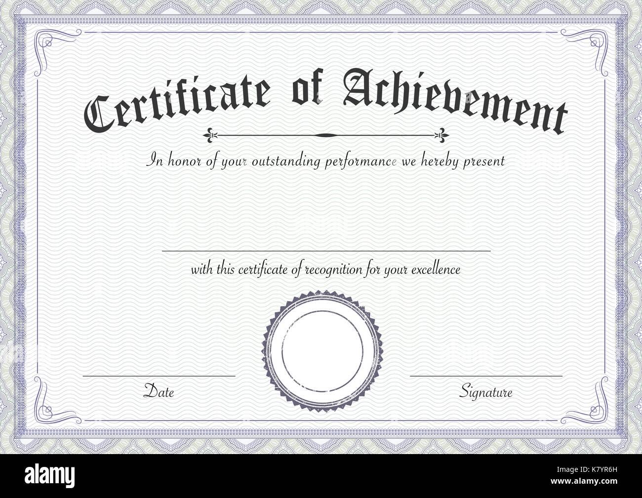 Award Certificate Template Stockfotos & Award Certificate Template ...