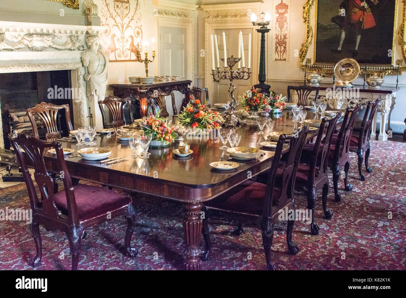 Esszimmer Auf Englisch | Regal Esszimmer In Englisch Herrenhaus Yorkshire England Stockfoto