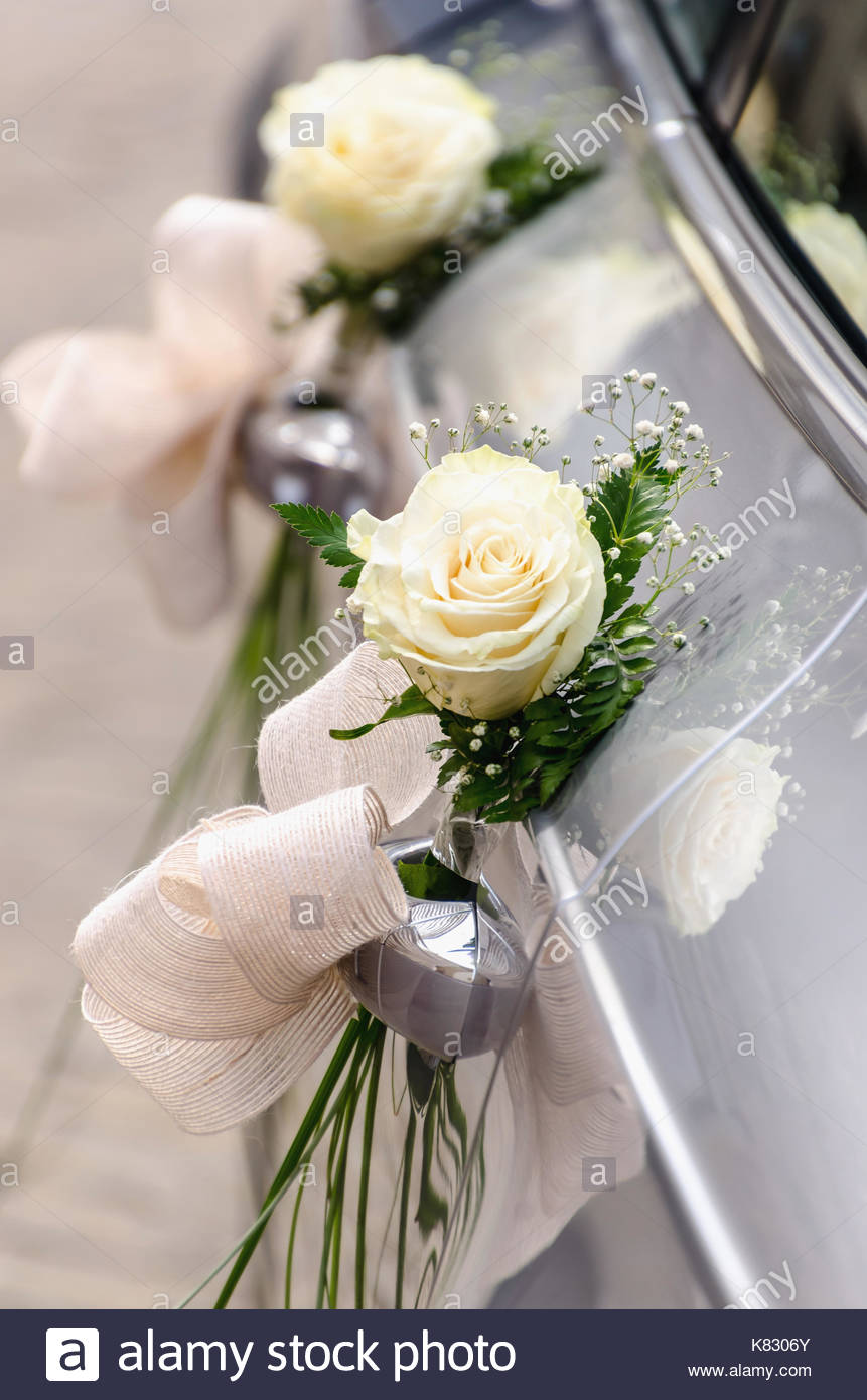 Wedding Car Ornament Stockfotos Wedding Car Ornament Bilder Alamy