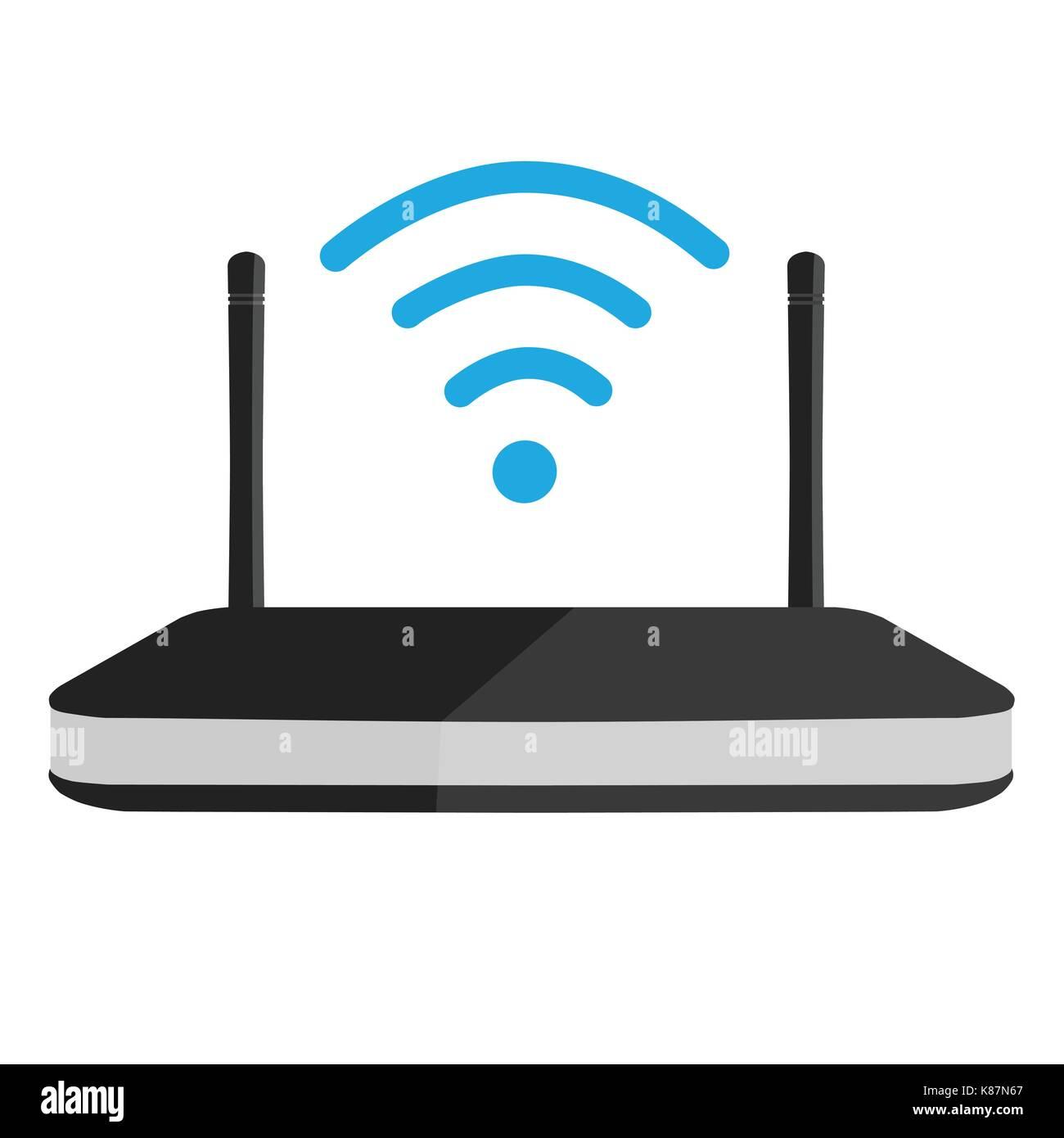 Vector Illustration Wlan Router Symbol. Wi-Fi-Symbol Vektor ...