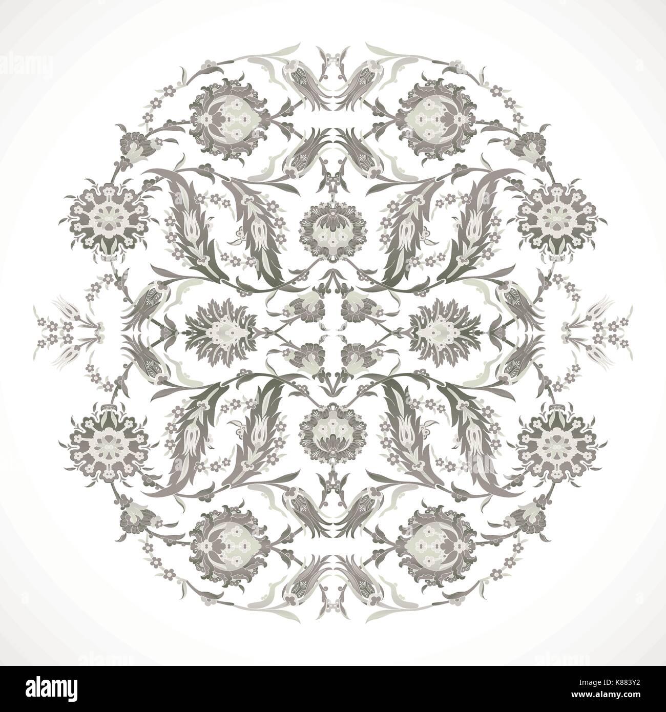 Arabesque vintage Umrisse Dekor verzierte Muster für Design Template ...
