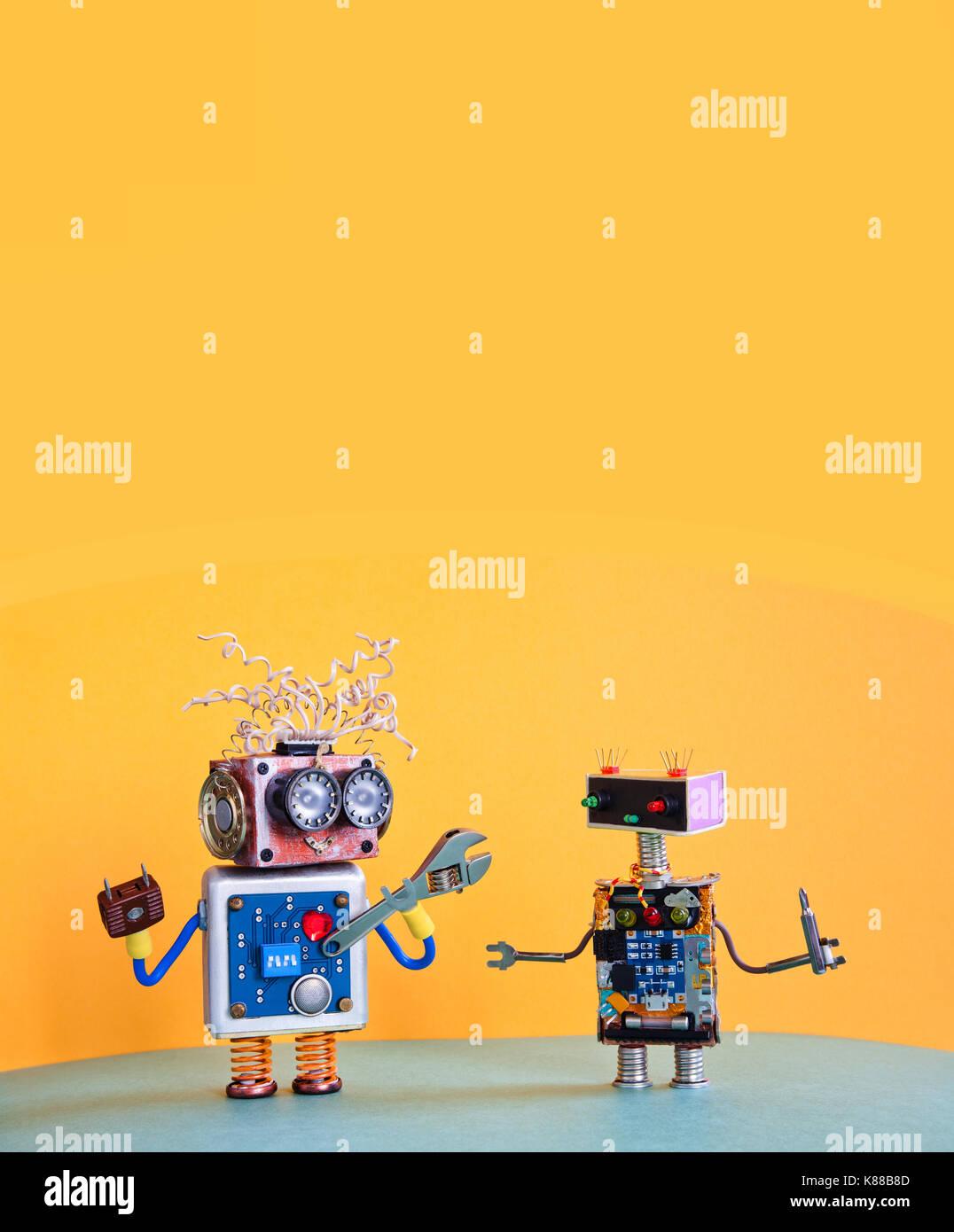 Serviceroboter Wartung Plakat Vorlage. Kreative Gestaltung cyborg ...