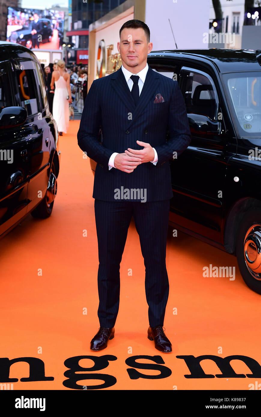 Channing Tatum die Teilnahme an der Uraufführung von kingsman: Der goldene Kreis, bei Cineworld in Leicester Square, Stockfoto