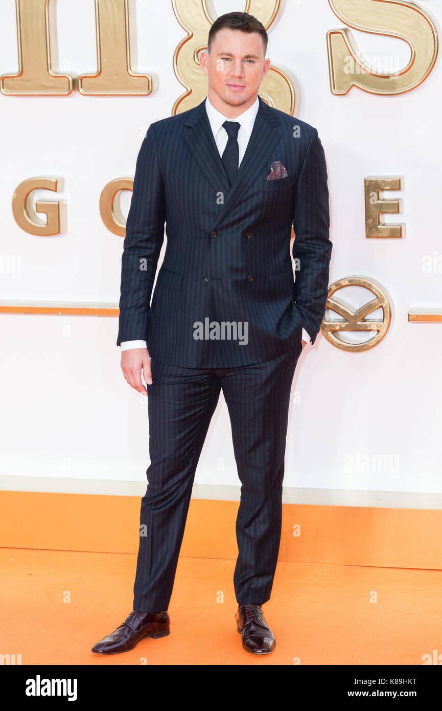 London, Großbritannien. 18 Sep, 2017. Channing Tatum besucht die KIngsman: Der goldene Kreis Welt Film Premiere Stockfoto