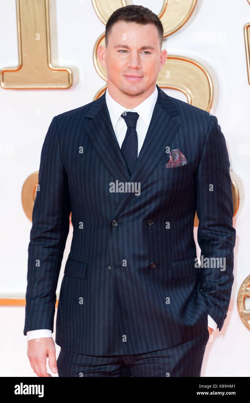 London, Großbritannien. 18 Sep, 2017. Channing Tatum besucht die KIngsman: Der goldene Kreis Welt Film Premiere Stockbild