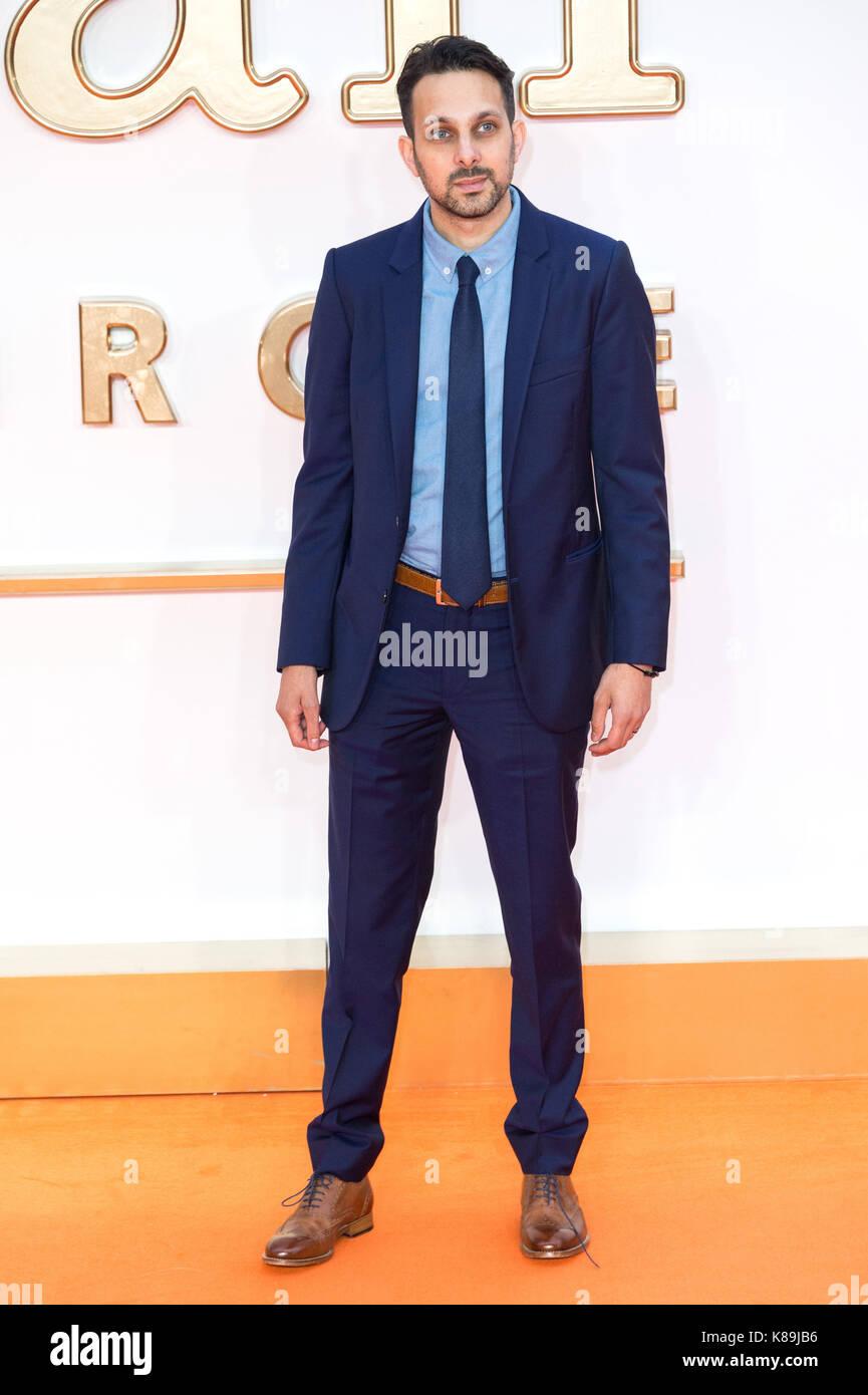 London, Großbritannien. 18 Sep, 2017. Dynamo besucht die KIngsman: Der goldene Kreis Welt Film Premiere Credit: Stockfoto
