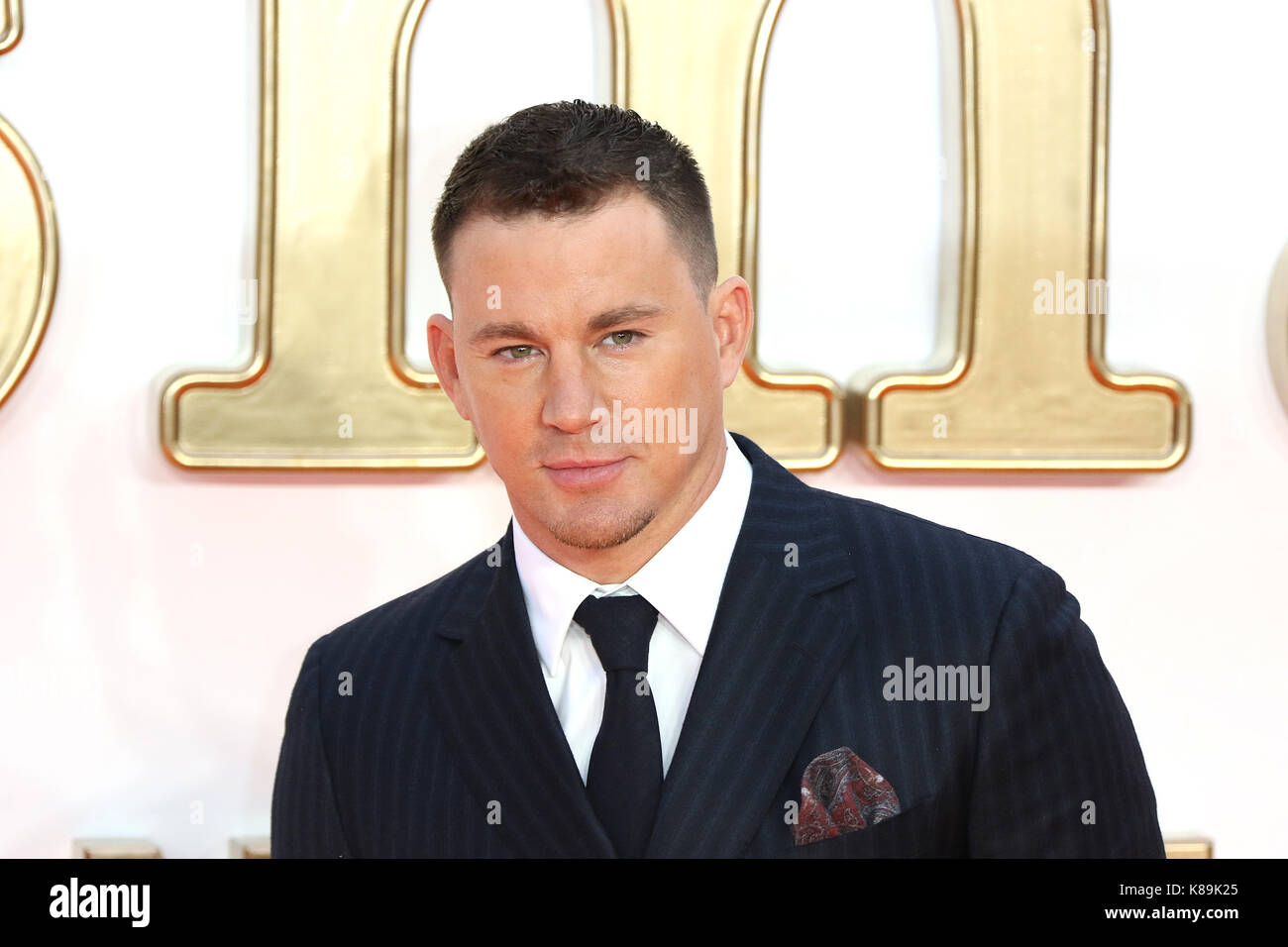 London, Großbritannien. 18 Sep, 2017. Channing Tatum, Kingsman: Der Golden Circle - Weltpremiere, Leicester Stockbild