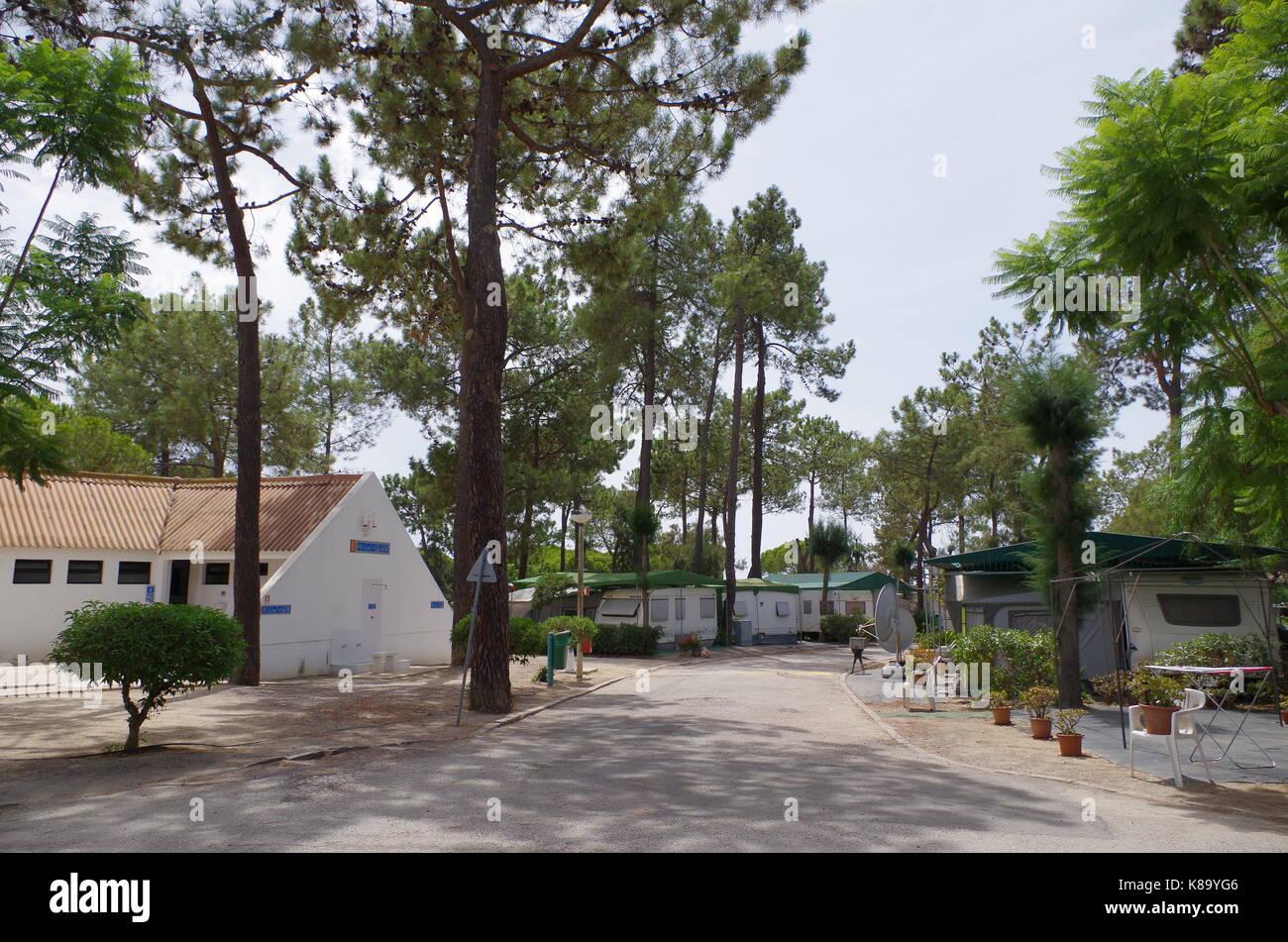 camping olhao. algarve, portugal stockfoto, bild: 160029750 - alamy