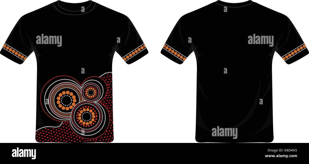 Aboriginal Kunst T Shirt Design Vector Stock Vektorgrafik   Alamy