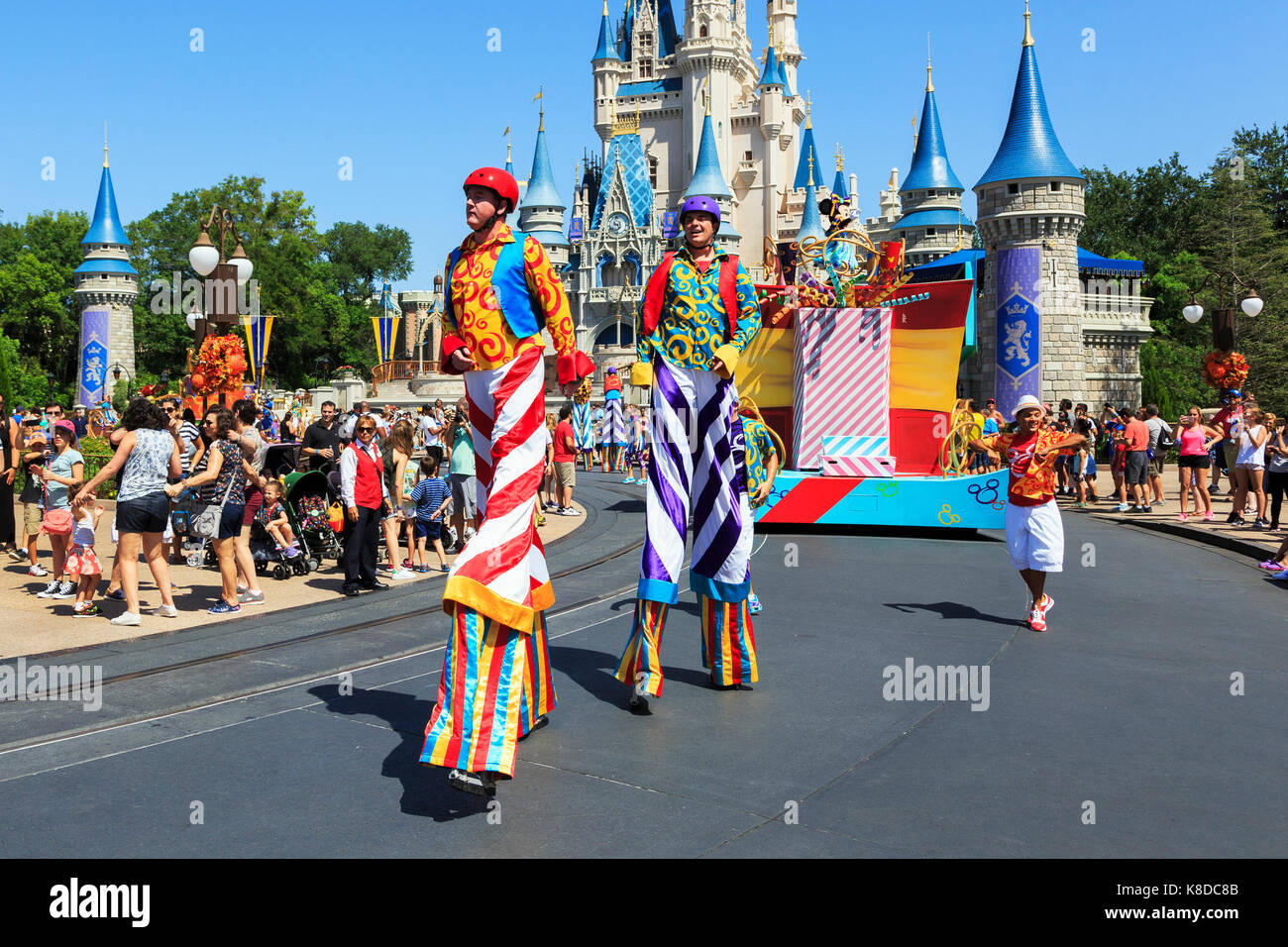 Street Unterhaltung am Walt Disney's Magic Kingdom Theme Park in Orlando, Florida, USA Stockbild