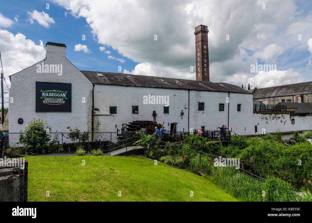 Irland, sperren? ? ?? ? ?? ? Siehe kilbeggan Distillery, die älteste ununterbrochen lizenzierte Destillerie Stockbild