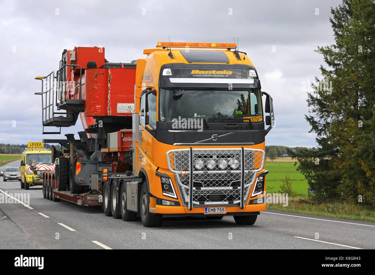 Koski Tl Finnland 15 August 2017 Gelb Volvo Fh16 Semi Truck Von