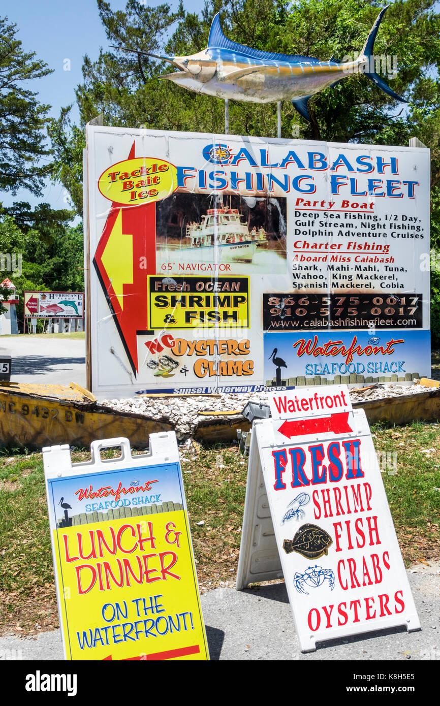 North Carolina NC Calabash Calabash Angeln im Fluss Stadt Waterfront ...