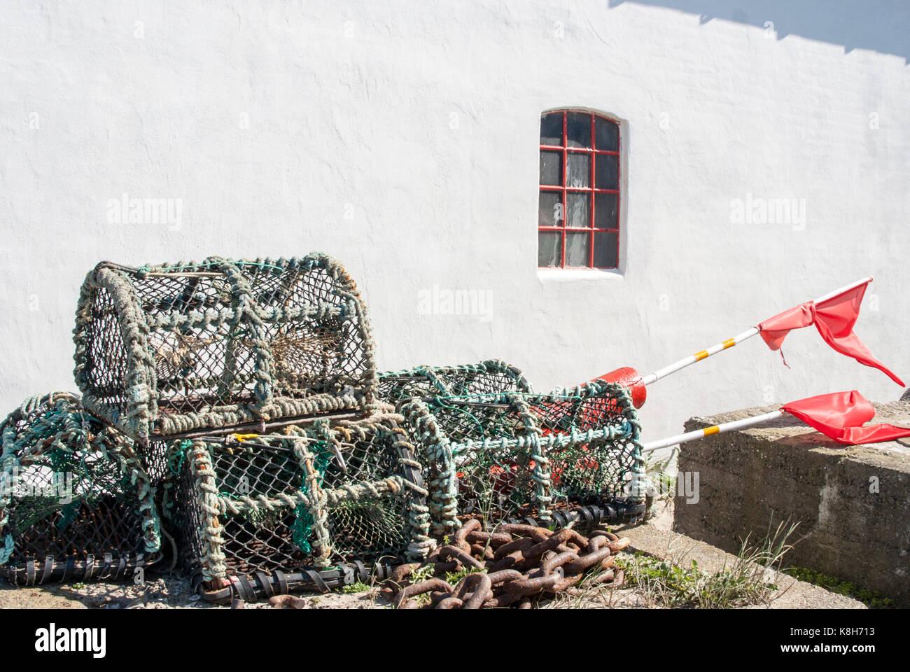 Hummer Körbe in Dänemark Stockbild