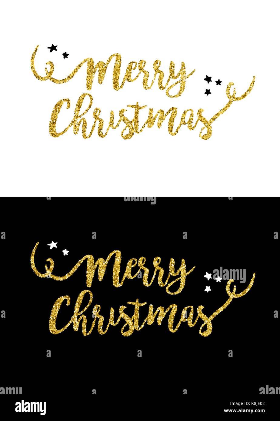 Gold frohe Weihnachten Text zitieren, Kalligraphie Schrift Design ...