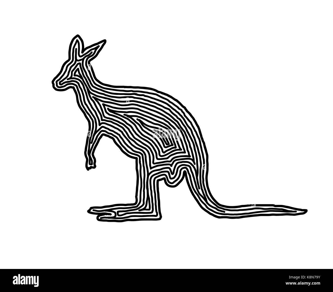 Kangaroo Vector Stockfotos & Kangaroo Vector Bilder - Alamy