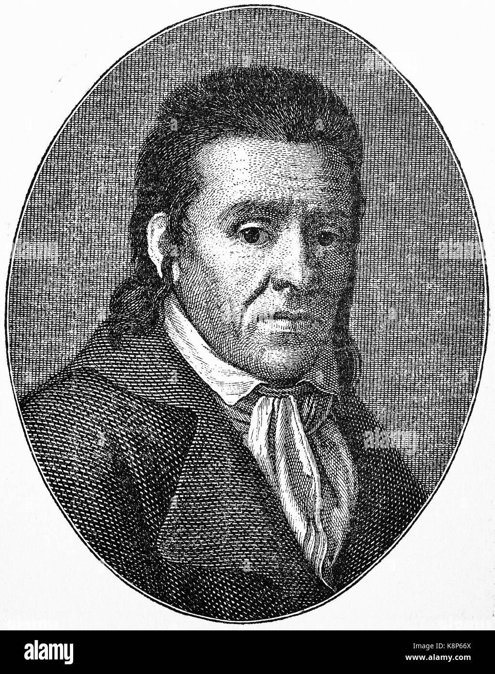 Johann Heinrich Pestalozzi, 1746 - 1827, Schweizer Pädagoge und pädagogischen Reformator, Romantik in Stockbild