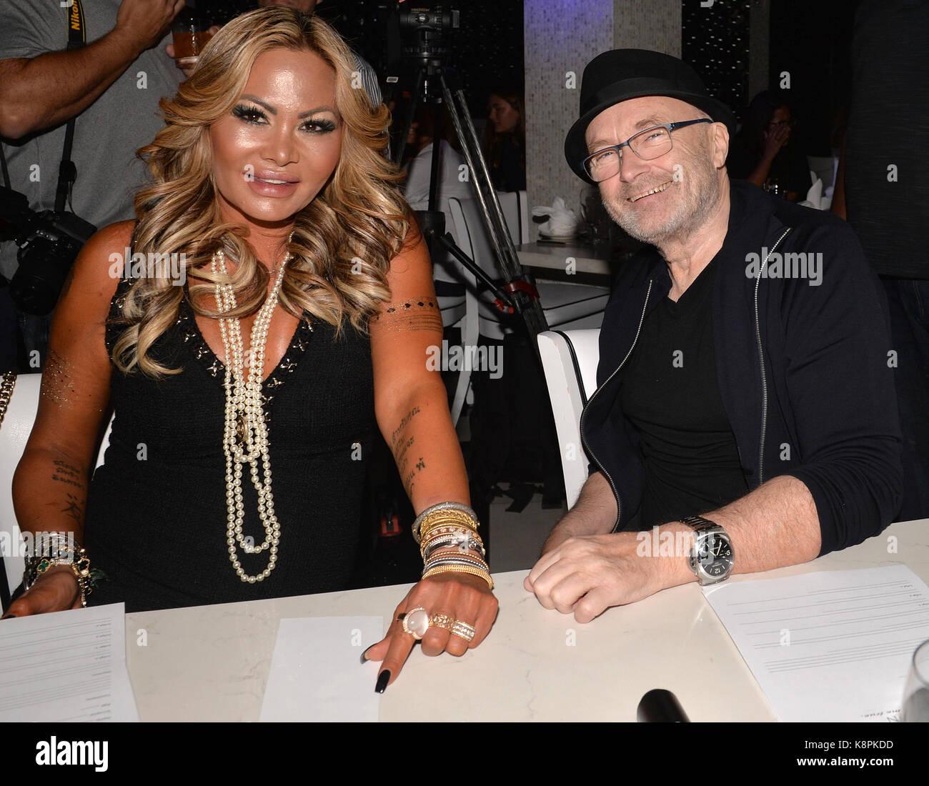 Miami, USA. 20 Sep, 2017. Phil Collins und Orianne Collins an ...