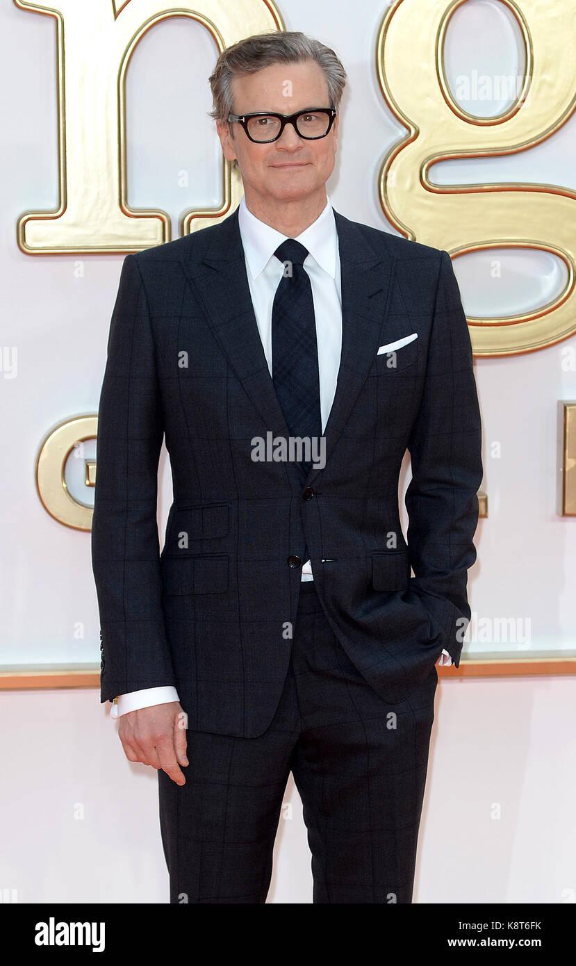 Foto muss Gutgeschrieben © Alpha Presse 078237 18/09/2017 Colin Firth an der Kingsman der Golden Circle Welt Film Stockfoto
