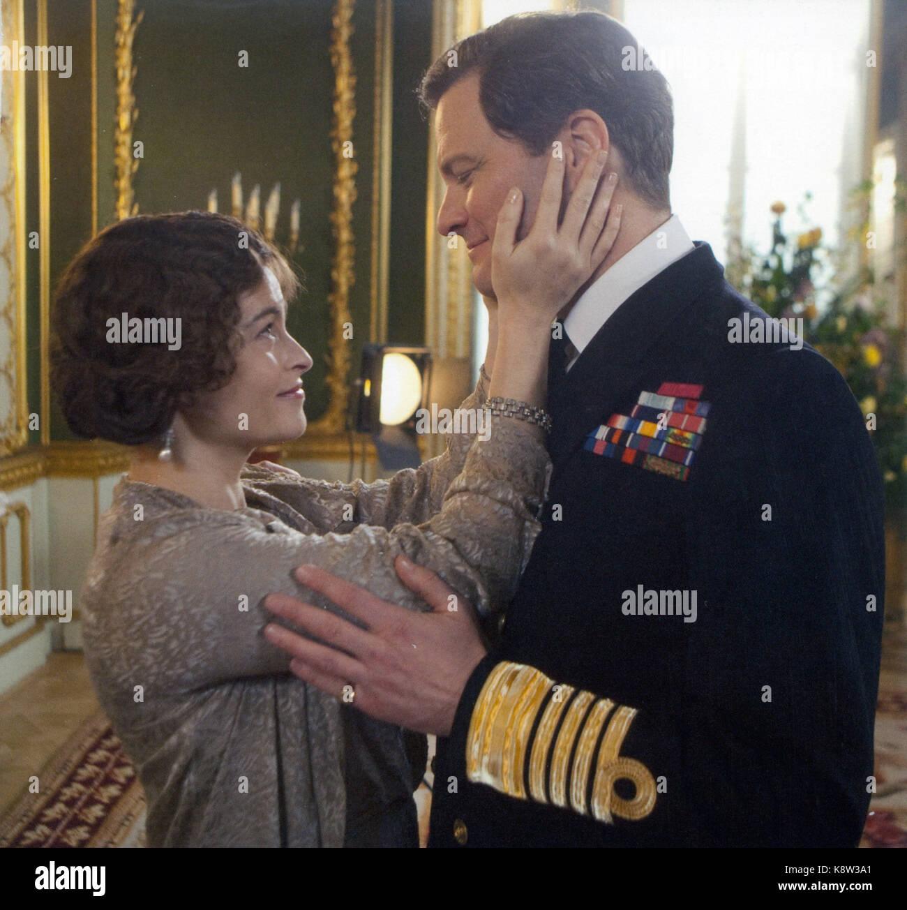 THE KING'S SPEECH 2010 Momentum Pictures Film mit Colin Firth und Helena Bonham-Carter Stockbild