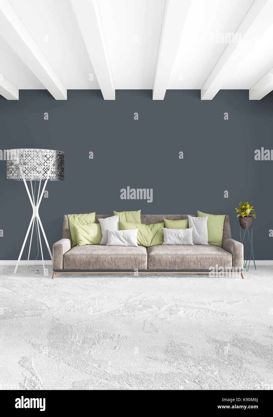 Weiß Schlafzimmer minimaler Moderne oder Loft Style Interior Design ...