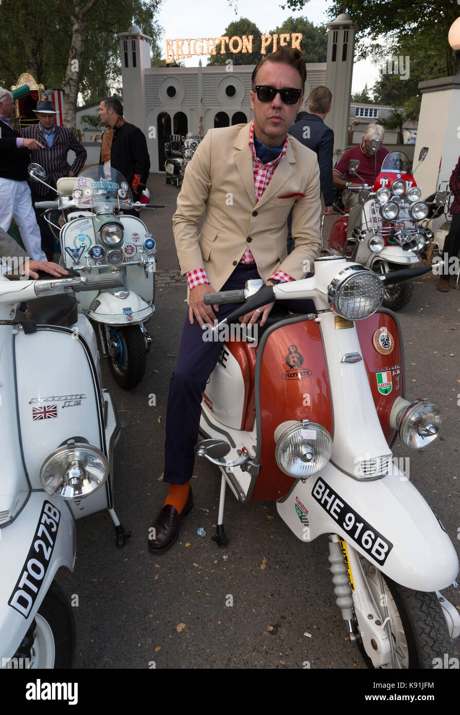 Mod in Goodwood Revival Stockbild