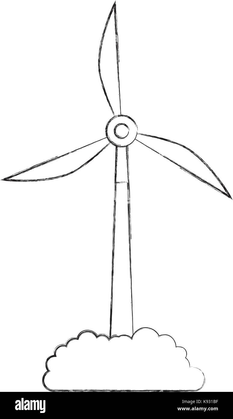 Alternative Energiequellen erneuerbare Windmühlen Stockbild