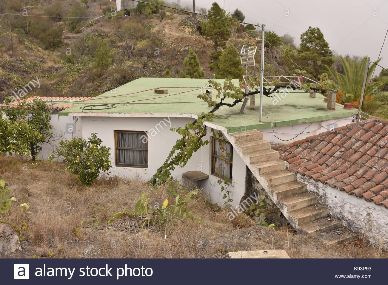 Traditionelles Haus Stadt Tijarafe im Nordwesten von La Palma Kanarische Inseln Makaronesien (Spanien). Stockbild