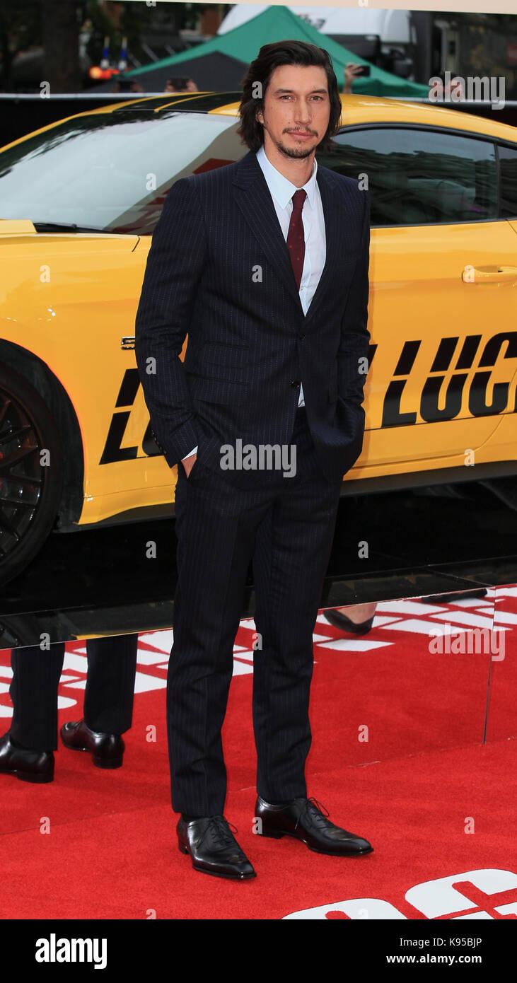 """UK Premiere von """"Logan Lucky"""" gehalten bei Vue West End - Ankunft mit: Adam Treiber Wo: London, Großbritannien Wann: Stockfoto"""