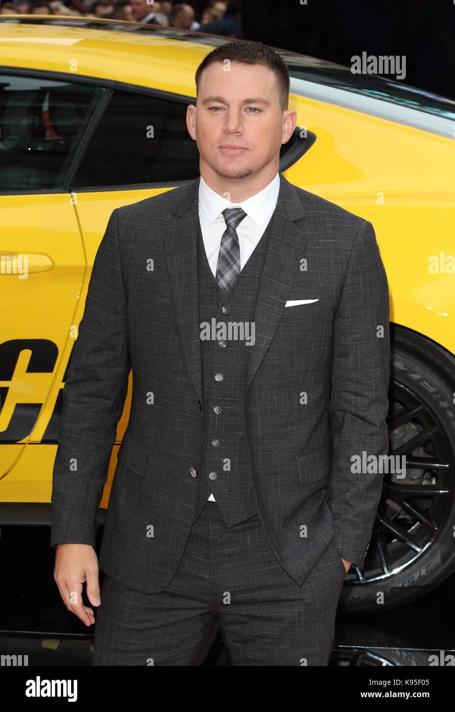 """UK Premiere von """"Logan Lucky"""" gehalten bei Vue West End - Ankunft mit: Channing Tatum Wo: London, Großbritannien Stockfoto"""