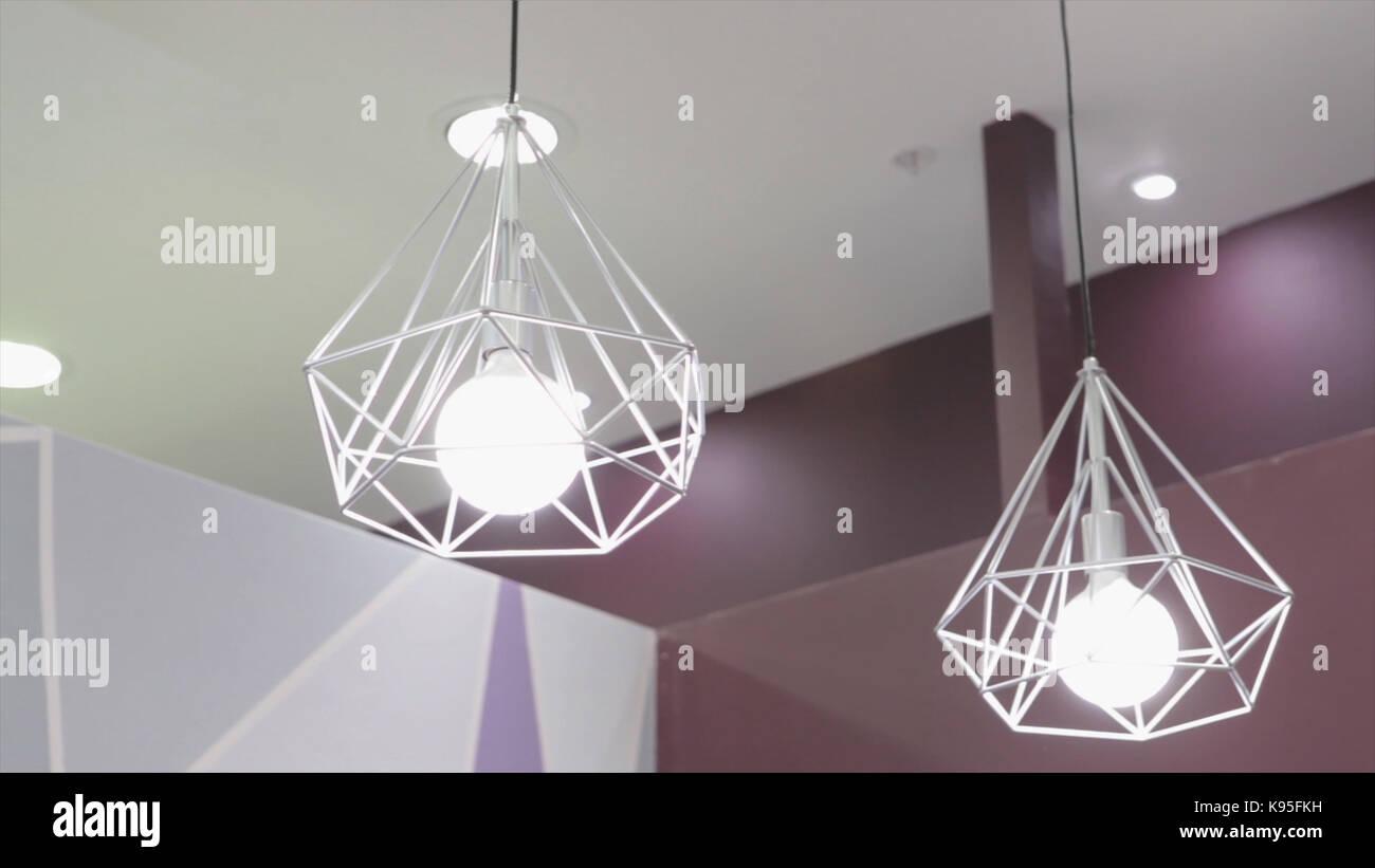 Moderne Lampen 95 : Mode und hitech lampe im modernen stil. warme ton licht lampe