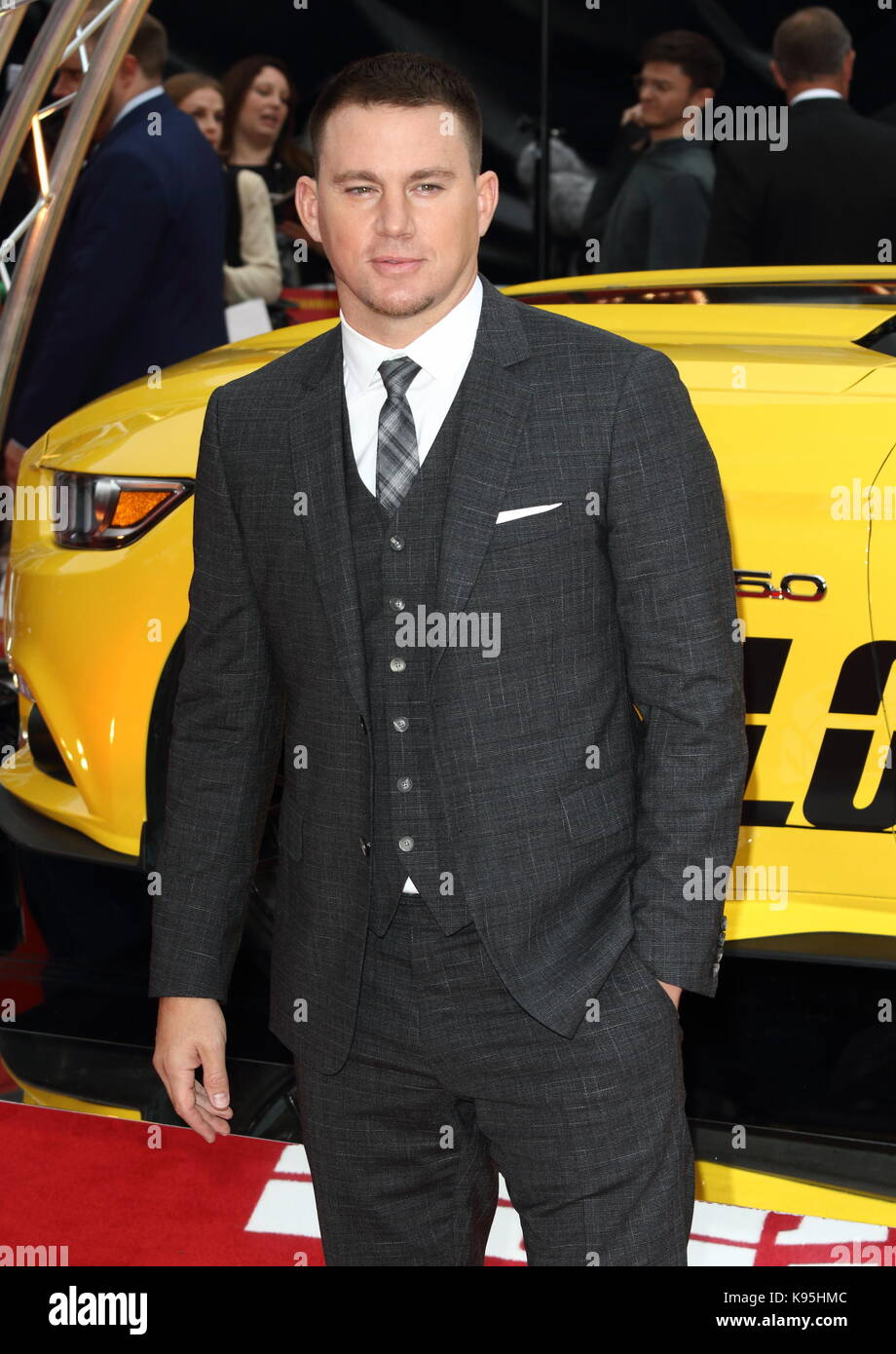 Logan Lucky UK Film Premiere auf der Vue West End, den Leicester Square, London Mit: Channing Tatum Wo: London, Stockfoto