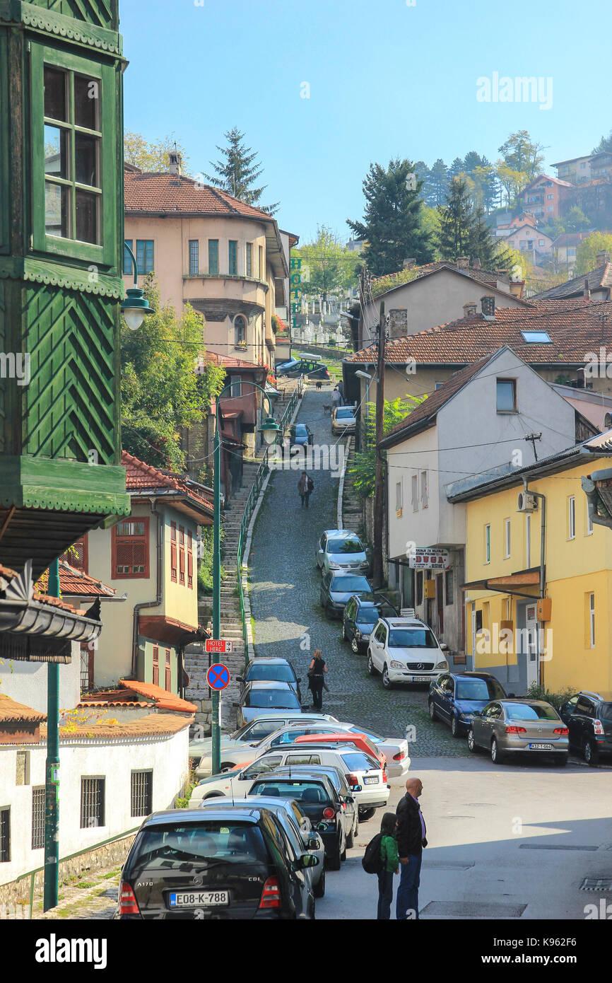 Eine Auswahl von Bildern von Sarajevo. Bosnien und Herzegowina Stockbild