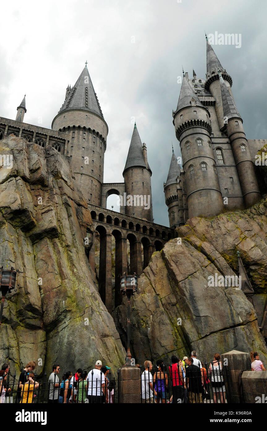 Hogwarts Castle Die Magische Welt Von Harry Potter Universal Studios Florida Usa Stockfotografie Alamy